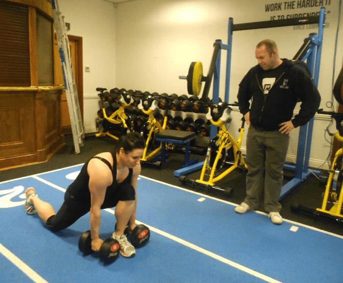 Phil training Martyn Ford